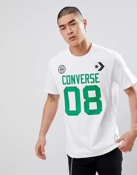 Converse Basketball Theme Tee In White 10006226-A01