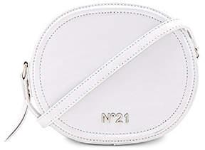 No. 21 Circle Small Crossbody Bag in White.