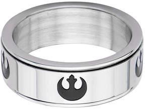 Star Wars FINE JEWELRY Stainless Steel Rebel Alliance Symbol Spinner Ring