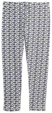 Vineyard Vines Girl's Etched Whale Logo Leggings
