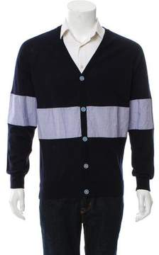 Band Of Outsiders Woven Colorblock Cardigan