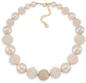 Carolee Simulated Pearl Beaded Collar Necklace, 16