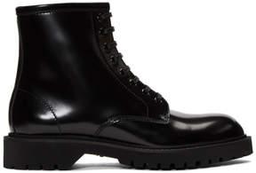 Saint Laurent Black Liverpool Army Boots