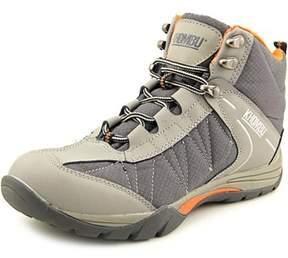 Khombu Hilary Women Round Toe Leather Gray Hiking Shoe.