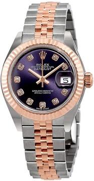 Rolex Lady-Datejust Aubergine Diamond Dial Automatic Ladies Watch