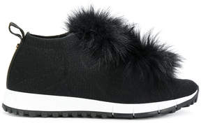 Jimmy Choo fox fur sneakers