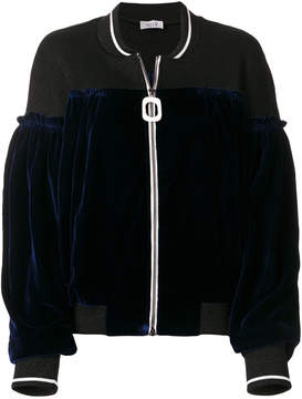 Aviu velvet panel bomber jacket