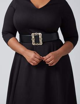 Lane Bryant Stretch Belt with Picture Frame Buckle