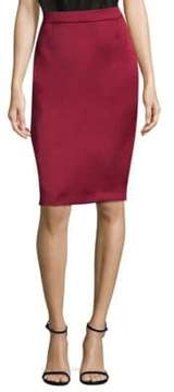 Escada Duchess Satin Pencil Skirt