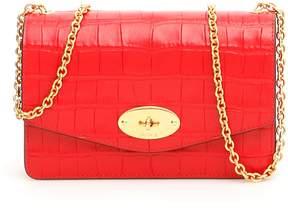 Ruby Red Croc Print Small Darley Bag