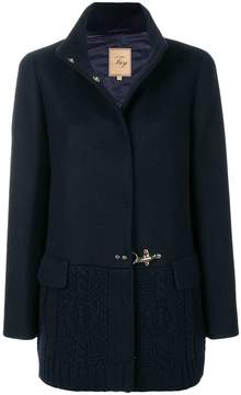 Fay contrast knitted coat