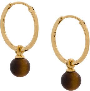 Astley Clarke Tigers Eye Vera Drop Hoop earrings