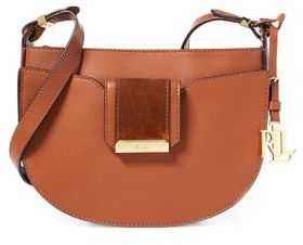 Lauren Ralph Lauren Zippered Leather Shoulder Bag