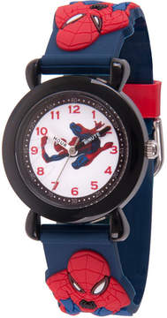 Marvel Spiderman Boys Blue Strap Watch-Wma000164
