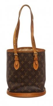 Louis Vuitton Bucket leather handbag - BROWN - STYLE