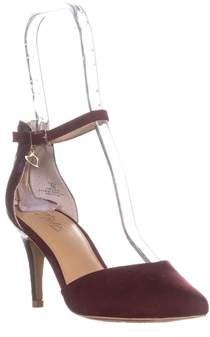 Thalia Sodi Ts35 Vanessa Ankle Strap Pumps, Elderber/snake.