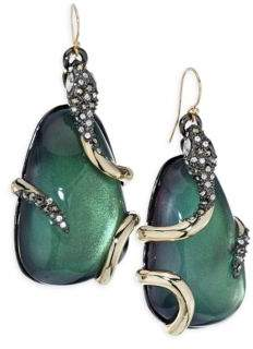 Alexis Bittar Snake-Wrapped Lucite Drop Earrings