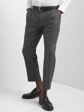 Gap Wool pleated slim fit cropped pants