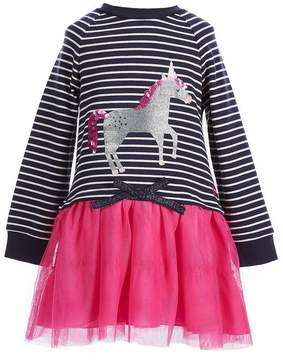 Joules Little Girls 1-6 Unicorn Striped Tutu Dress