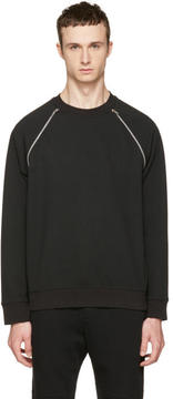 McQ Black Mix Zip Sweatshirt