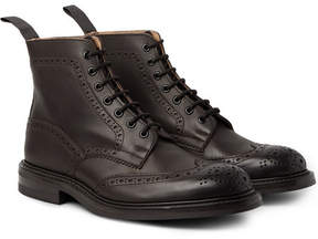 Tricker's Stow Burnished-Leather Brogue Boots