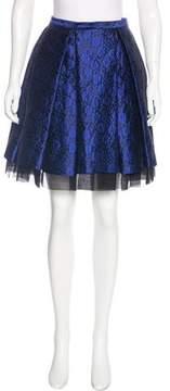 Christian Dior Silk Jacquard Skirt