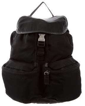 Prada Saffiano-Trimmed Vela Backpack