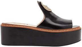 Fendi platform logo sandals