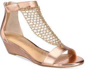 Thalia Sodi Tibby Mesh Embellished Wedge Sandals, Created for Macy's Women's Shoes
