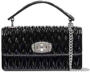Miu Miu black leather quilted shoulder bag
