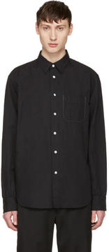 Rag & Bone Black Linen Beach Shirt