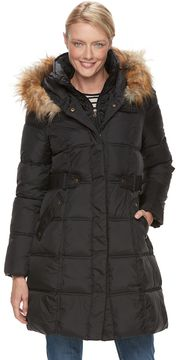 Chaps Women's Hooded Heavyweight Puffer Jacket