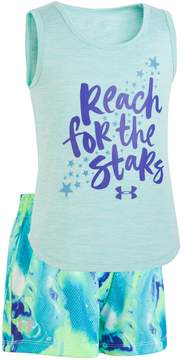 Under Armour Toddler Girl Reach For The Stars Graphic Tank & Shorts Set