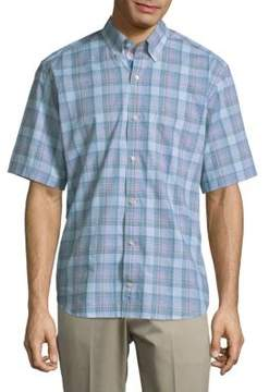 Tailorbyrd Plaid Buttoned Cotton Shirt