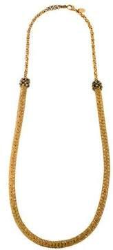 Erickson Beamon Bead Accent Woven Necklace.