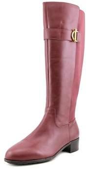 Isaac Mizrahi Senso Round Toe Leather Knee High Boot.