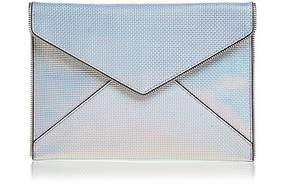 Rebecca Minkoff Leo Leather Clutch - OPAL IRIDESCENT/SILVER - STYLE