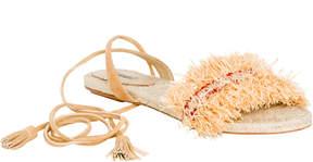 Max Studio validity : fringed wrap sandals