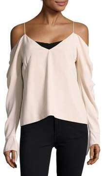 C/Meo V-Neck Cold-Shoulder Top