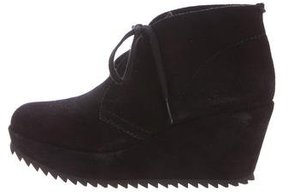 Pedro Garcia Lace-Up Wedge Booties