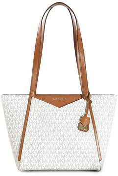 Michael Kors Whitney Signature Logo Tote - Vanilla - ONE COLOR - STYLE