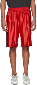 Faith Connexion Red Kappa Edition Logo Shorts