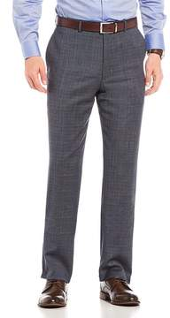 Hart Schaffner Marx Modern Fit Flat Front Checked Dress Pants