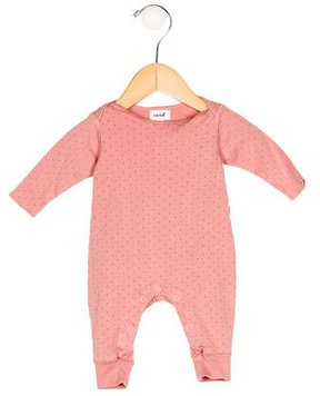 Oeuf Girls' Polka Dot Print Long Sleeve All-In-One