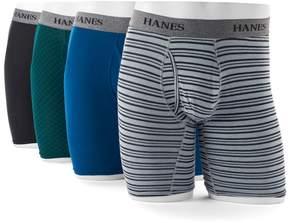 Hanes Men's Ultimate 4-pack Tagless Longer Leg Stretch Boxer Briefs