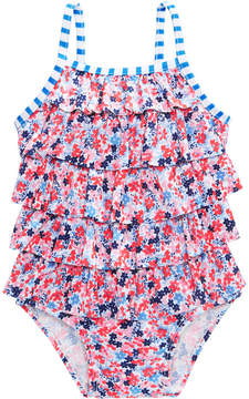 First Impressions 1-Pc. Floral-Print Swim Suit, Baby Girls, Created for Macy's