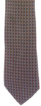 Hermes Logo Print Silk Tie