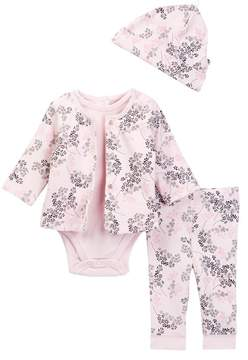 Offspring Delicate Blush Reversible Jacket Set - 4-Piece Set (Baby Girls)