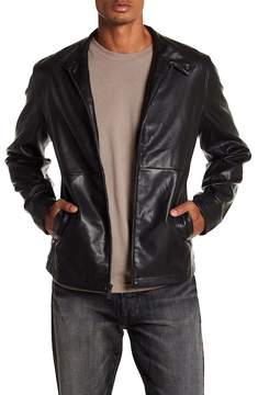 Perry Ellis Faux Leather Bomber Jacket