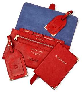 Aspinal of London Classic Travel Collection In Scarlet Saffiano